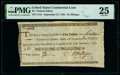 Colonial Notes:Continental Congress Issues, Continental Congress Loan Federal Indent September 27, 1785 $2 14/90ths Anderson 166 PMG Very Fine 25.. ...