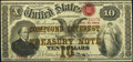 Fr. 190a $10 1864 Compound Interest Treasury Note Ex: Grinnell