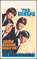 """Movie Posters:Rock and Roll, A Hard Day's Night (United Artists, 1964). Very Fine+ on Linen. Belgian (14"""" X 22""""). Rock and Roll.. ..."""