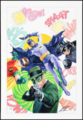 """Movie Posters:Action, Batman '66 and The Green Hornet (DC Comics/Dynamite Entertainment, 2014). Rolled, Near Mint/Mint. Giclée on Canvas (26"""" X 37..."""