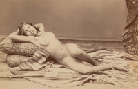 Unknown Artist (19th Century) Middle Eastern Nude, 1870s Albumen print 10 x 6-3/8 inches (25.4 x 16.2 cm) (image)
