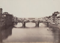 Fratelli Alinari (Italian, 1854-1920) The Arno River, Florence, Italy, 1850s Salt print from wet plate negative 11-3/
