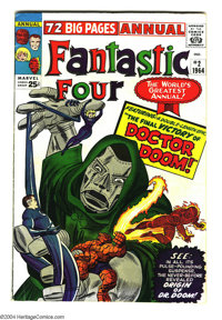 Fantastic Four Annual #2 (Marvel, 1964) Condition: FN. Origin of Dr. Doom. Jack Kirby cover and art. Overstreet 2003 FN...