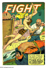 Fight Comics #51 (Fiction House, 1947) Condition: FN/VF. Origin Tiger Girl. Patsy Pin-Up appearance. Matt Baker art. Ove...