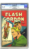 Golden Age (1938-1955):Science Fiction, Four Color #10 Flash Gordon (Dell, 1942) CGC GD+ 2.5 Cream tooff-white pages. Alex Raymond art. Flash Gordon story. CGC not...