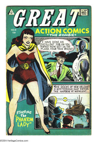 Great Action Comics #8 (I.W., 1958) Condition: VG. Phantom Lady reprints. Matt Baker art. Overstreet 2003 VG 4.0 value =...