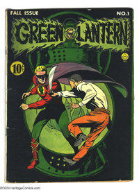 Green Lantern #1 (DC, 1941) Condition: FR. Classic cover by Howard Purcell. Origin of the Green Lantern re-told. Martin...