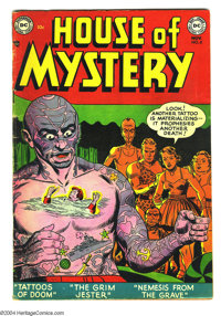 House of Mystery #8 (DC, 1952) Condition: VG+. Curt Swan art. Overstreet 2003 VG 4.0 value = $86
