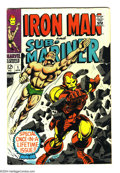 Silver Age (1956-1969):Superhero, Iron Man and Sub-Mariner #1 (Marvel, 1968) Condition: VG+. Gene Colan and Johnny Craig interior art. Cover art by Colan and ...