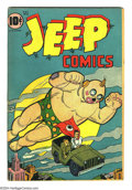 Golden Age (1938-1955):Humor, Jeep Comics #2 (Leffingwell, 1945) Condition: VG+. One of theoddest covers to ever appear on a Golden Age comic! The center...