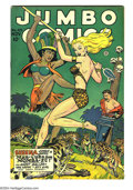 Golden Age (1938-1955):Adventure, Jumbo Comics #105 (Fiction House, 1947) Condition: VF. Matt Baker art. Overstreet 2003 VF 8.0 value = $121....