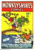 Golden Age (1938-1955):Funny Animal, Monkeyshines Comics #1-2 Group (Ace, 1944) Condition: #1 GD/VG, #2FN/VF. Overstreet 2003 value for group = $52. ...