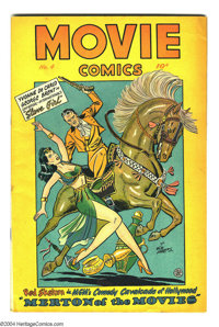 "Movie Comics #4 (Fiction House, 1947) Condition: FN. ""Slave Girl"" cover. Matt Baker art. Overstreet 2003 FN 6..."
