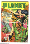Golden Age (1938-1955):Science Fiction, Planet Comics #51 (Fiction House, 1947) Condition: VF. MurphyAnderson, George Evans art. Overstreet 2003 VF 8.0 value = $38...