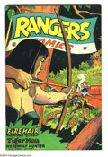 Golden Age (1938-1955):War, Rangers Comics #34 (Fiction House, 1947) Condition: VF. FeaturingFirehair, Tiger Man, and more. Overstreet 2003 VF 8.0 valu...