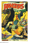 Golden Age (1938-1955):Adventure, Rangers Comics #38 (Fiction House, 1947) Condition: FN. Bondage, hanging cover. Matt Baker art. Overstreet 2003 FN 6.0 value...