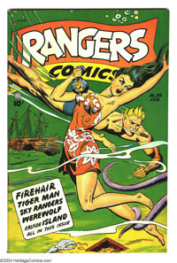 Rangers Comics #39 (Fiction House, 1948) Condition: VF+. Underwater cover. Matt Baker art. Overstreet 2003 VF 8.0 value...