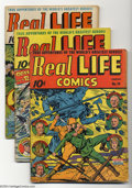 Golden Age (1938-1955):Miscellaneous, Real Life Comics #10-14 Group (Nedor Publications, 1943) Condition: Average VG. This lot consists of issues #10-14. Alex Sch... (Total: 5 Comic Books Item)