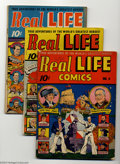Golden Age (1938-1955):Miscellaneous, Real Life Comics #6-9 Group (Nedor Publications, 1942-43). This lot consists of issues #6-9. Issue #9 grades GD, the others ... (Total: 4 Comic Books Item)
