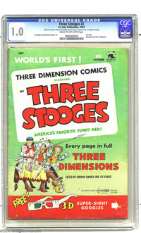 Three Stooges #2 (St. John, 1953) CGC FR 1.0 Cream to off-white pages. 3-D issue. Stunt Girl story. Joe Kubert and Norma...