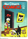 Golden Age (1938-1955):Funny Animal, Walt Disney's Comics and Stories #55 (Dell, 1945) Condition: G/VG.Carl Barks art. Overstreet 2003 GD 2.0 value =$25; VG 4.0...
