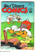 Golden Age (1938-1955):Funny Animal, Walt Disney's Comics and Stories #57 (Dell, 1945) Condition: VG/FN.Carl Barks art. Overstreet 2003 VG 4.0 value = $50; FN 6...