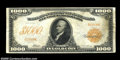 Large Size:Gold Certificates, Fr. 1219b $1000 1907 Gold Certificate Fine-Very Fine....