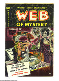 Golden Age (1938-1955):Horror, Web of Mystery #1 (Ace, 1951) Condition: VG+. Mike Sekowsky art.Overstreet 2003 VG 4.0 value = $104....