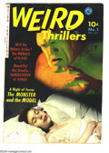 Golden Age (1938-1955):Horror, Weird Thrillers #1 (Ziff-Davis, 1951) Condition: VG. Rondo Hattonphoto cover. Overstreet 2003 VG 4.0 value = $166....