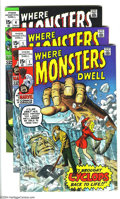 Silver Age (1956-1969):Horror, Where Monsters Dwell Group (Marvel, 1970) Condition: Average FN-.This group includes two copies of #1 and one copy of #4. O...
