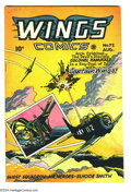 Golden Age (1938-1955):War, Wings Comics #72 (Fiction House, 1946) Condition: VF+. CaptainWings battles Colonel Kamikaze. Overstreet 2004 VF 8.0 value ...
