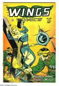 Golden Age (1938-1955):War, Wings Comics #89 (Fiction House, 1948) Condition: VF+. Bondagecover. Overstreet 2003 VF 8.0 value = $115; VF/NM 9.0 value =...