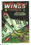 Golden Age (1938-1955):War, Wings Comics #114 (Fiction House, 1951) Condition: VG+. Maurice Whitman cover art. Overstreet 2003 VG 4.0 value = $34....