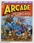 Bronze Age (1970-1979):Alternative/Underground, Arcade the Comics Revue #1 (Print Mint, 1975) Condition: VF/NM. Art includes front cover and story by Robert Crumb, plus sto...