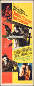 """Movie Posters:Crime, Odds Against Tomorrow (United Artists, 1959). Folded, Fine/Very Fine. Insert (14"""" X 36""""). Crime.. ..."""