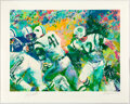 """Football Collectibles:Others, 2007 Joe Namath Signed """"Hand Off - Super Bowl III"""" Limited Edition Serigraph (282/350) by LeRoy Neiman...."""