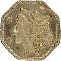 1854 25C Liberty Octagonal 25 Cents, BG-105, R.3, MS64+ NGC. NGC Census: (23/19 and 1/0+). PCGS Population: (71/29 and 0...