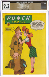 Punch Comics #17 The Promise Collection Pedigree (Chesler, 1946) CGC NM- 9.2 Off-white to white pages