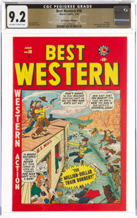 Best Western #58 The Promise Collection Pedigree (Marvel, 1949) CGC NM- 9.2 Off-white to white pages