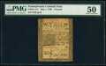 Pennsylvania May 1, 1760 £5 PMG About Uncirculated 50