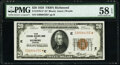 Fr. 1870-E* $20 1929 Federal Reserve Bank Star Note. PMG Choice About Unc 58 EPQ