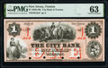 Obsoletes By State:New Jersey, Trenton, NJ- City Bank of Trenton $1 18__ as G2a as Wait 2283 Proof PMG Choice Uncirculated 63.. ...
