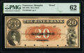 Obsoletes By State:Tennessee, Memphis, TN- River Bank $20 18__ G6a Garland Proof PMG Uncirculated 62. ...