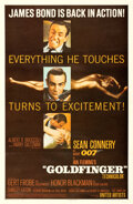 Movie Posters:James Bond, Goldfinger (United Artists, 1964). Very Fine- on Linen.
