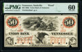 Obsoletes By State:Tennessee, Nashville, TN- Union Bank of Tennessee $50 18__ G228a Proof PMG Uncirculated 60, POCs.. ...