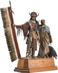 Sculpture, Dave McGary (American, 1958-2013). Hearts of Conviction, 1999. Bronze with polychrome. 26 inches (66...