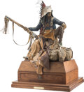 Sculpture, Dave McGary (American, 1958-2013). The Rainmaker (Rain-in-the-Face), 1996. Bronze with polychrome. 1...