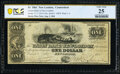 New London, CT- Union Bank in New-London $1 August 1, 1861 G136c PCGS Banknote Very Fine 25