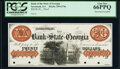 Obsoletes By State:Georgia, Savannah, GA- Bank of the State of Georgia $20 18__ G74a Proof PCGS Gem New 66PPQ, 4 POCs.. ...