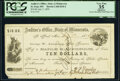 Obsoletes By State:Minnesota, St. Paul, MN- The Auditor's Office, State of Minnesota $10 July 7, 1859 Hewitt C360 PCGS Apparent Very Fine 35.. ...